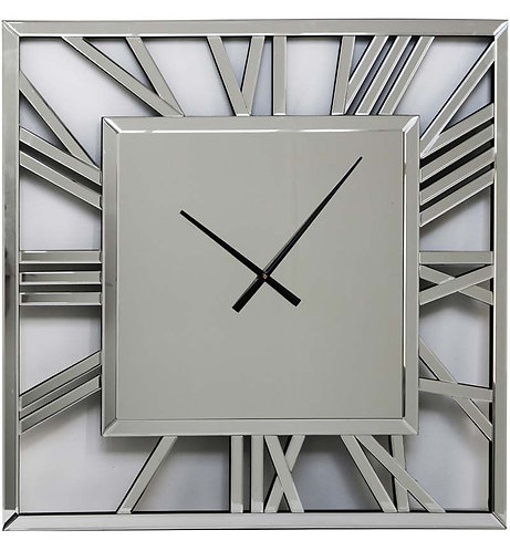 Mirrored Square Wall Clock