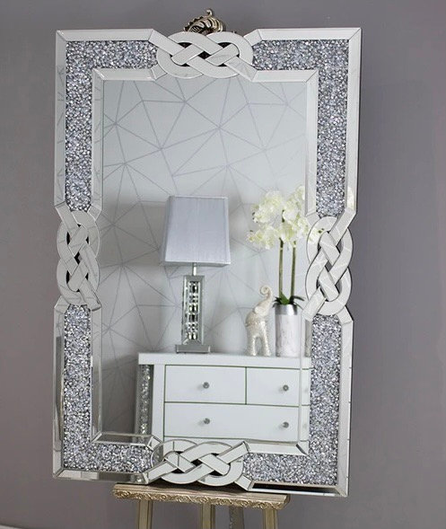 Crushed Diamond Lattice Mirror 120x80cm