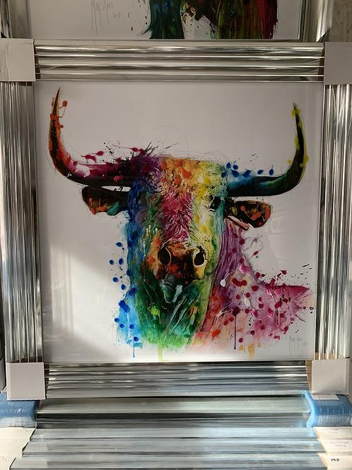 Bull on Chrome Step Frame 85x85cm