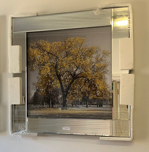 Gold Tree on Mirrored Frame