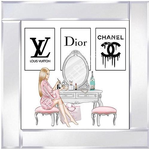 Dressing Room on Mirrored Frame 55x55cm