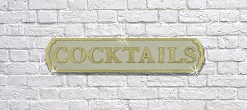 Cocktails Road Sign