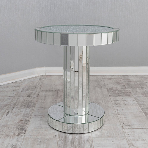 Crushed Diamond Round Side Table