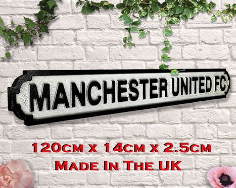 Manchester United FC Road Sign