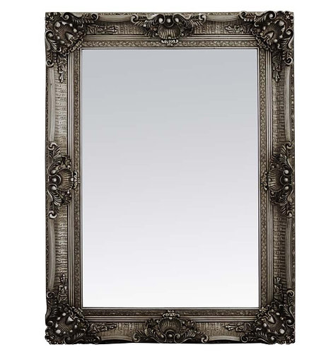 Metal Silver French Style Mirror 120x90cm