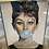 Thumbnail: Audrey Bubble Gum on Mirrored Frame 65x55