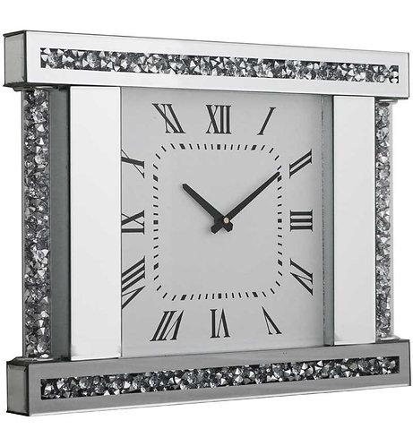 Crushed Diamond X Wall Clock