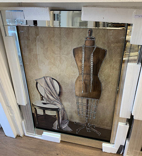 Dress Making on Mirrored Frame 95x75cm