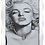 Thumbnail: Marilyn Pearls & Glitter on Mirrored Frame