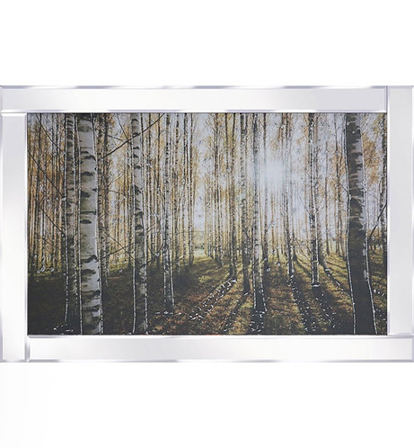 Forest on Mirrored Frame