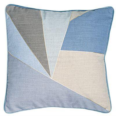 Blue Shatter Cushion 45x45cm