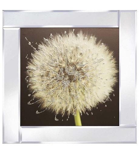 Dandelion on Mirrored Frame