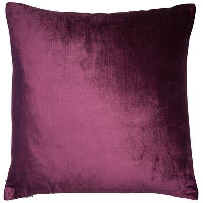 Aubergine Velvet Cushion 50x50