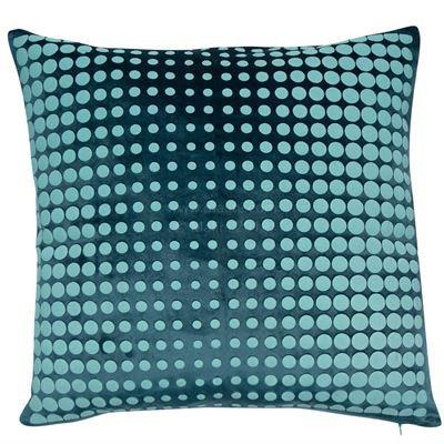 Dotty Petrol/Teal Cushion 45x45cm
