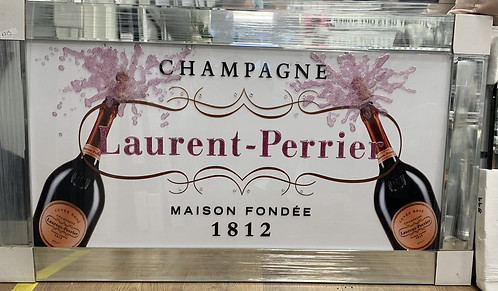 Laurent Perrier on Mirrored Frame 110x60cm
