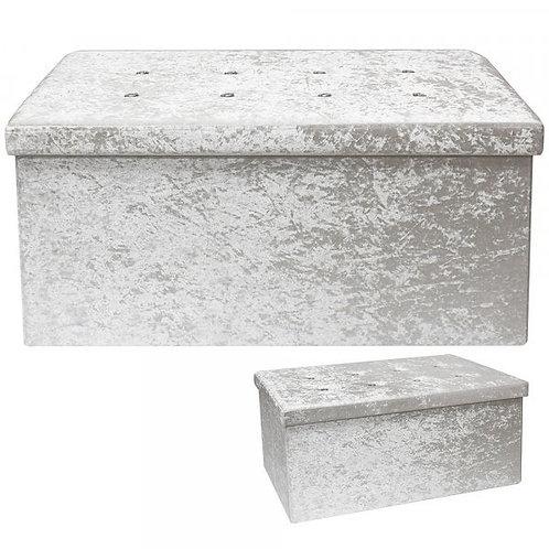 Large Crushed Velvet Storage Boxes