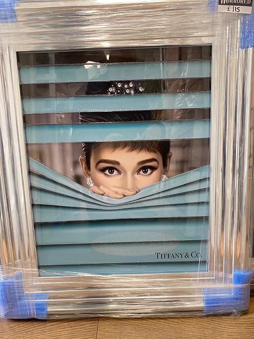 Audrey Peak at Tiffany's on Chrome Step Frame 65x55cm