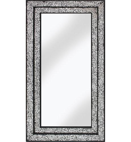 Black/Silver Double Mosaic Mirror 128x68cm