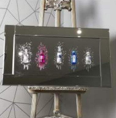 3D Mini Bar on Mirrored Frame 90x50cm