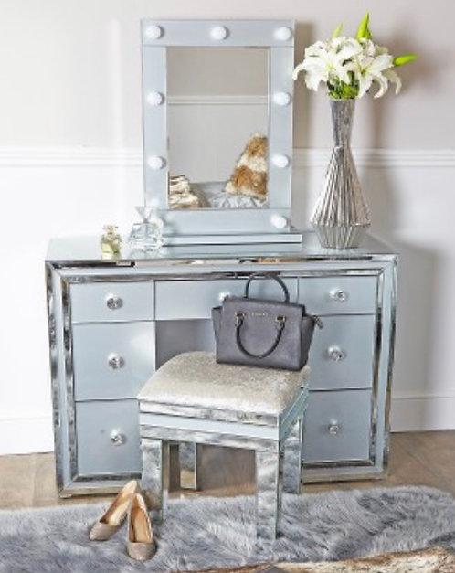 Georgia Grey 7 Drawer Dressing Table