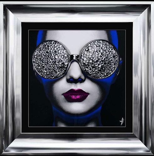Neon Girl Glasses 55x55cm