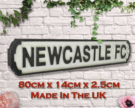 Newcastle FC Road Sign