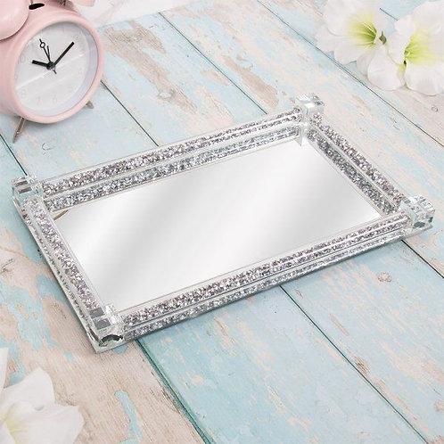 Crushed Diamond Mirrored Tray