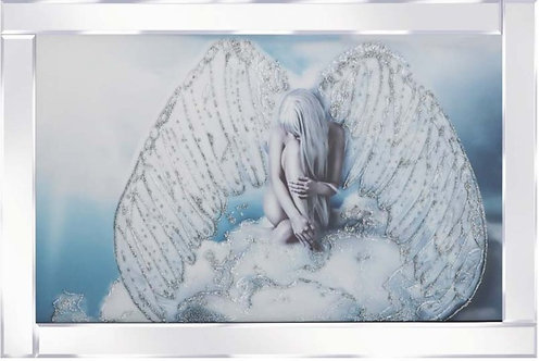 Angel on Cloud on Mirrored Frame