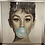 Thumbnail: Audrey Bubble Gum Chrome Scoop Frame 75x75cm