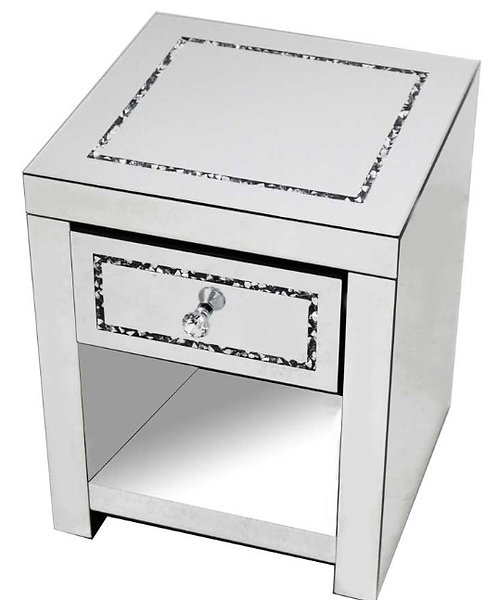 Crushed Diamond Bedside Table
