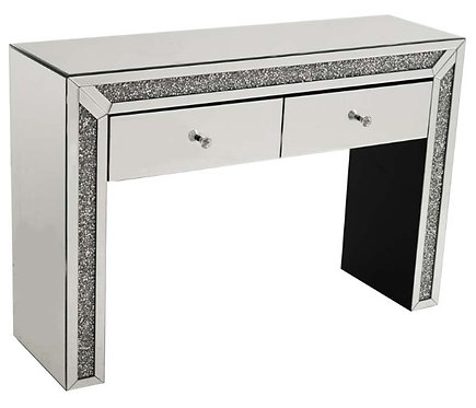 Crushed Diamond 2 Drawer Console Table/Dressing Table