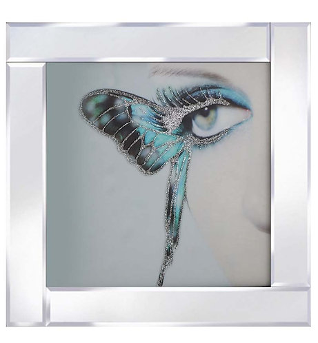 Butterfly Eye on Mirrored Frame