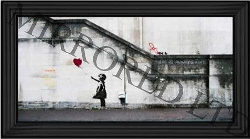 Banksy Girl with Balloon 110x60cm