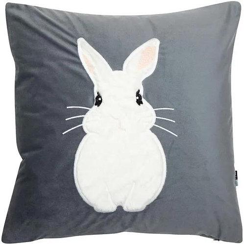 Grey Bunny Cushion 45x45cm