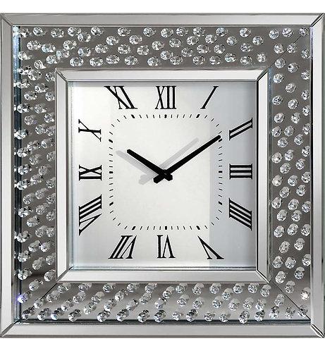 Floating Crystal Wall Clock