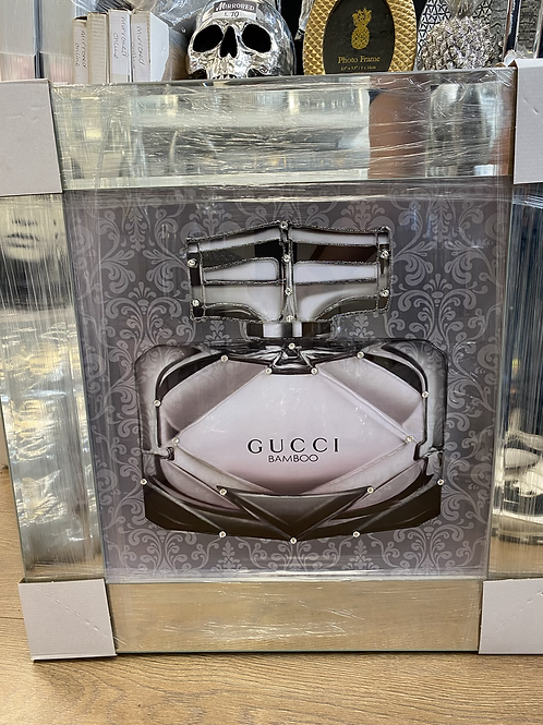 Gucci Bottle on Mirrored Frame 55x55cm