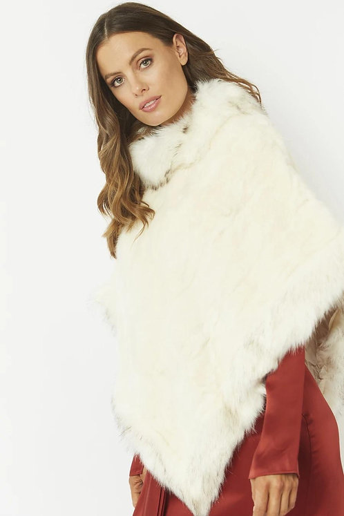 Faux Fur Lined Poncho