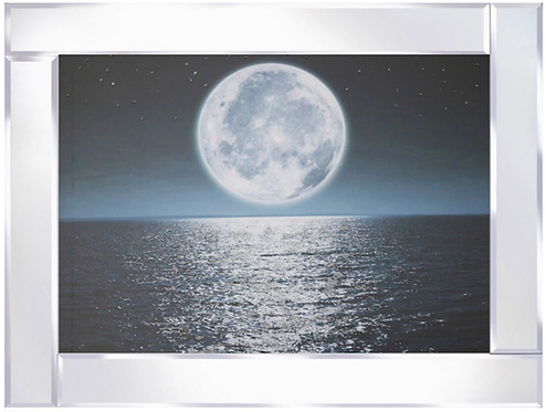 Moon Shine on Mirrored Frame 95x75cm