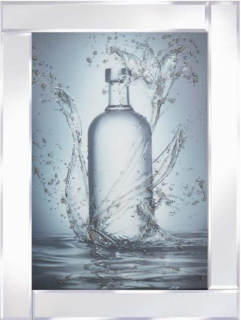 Glass Bottle on Mirrored Frame 95x75cm
