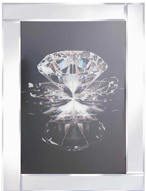 Diamond on Mirrored Frame 95x75cm