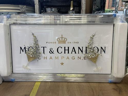 Moet & Chandon 3D on Mirrored Frame 110x60cm