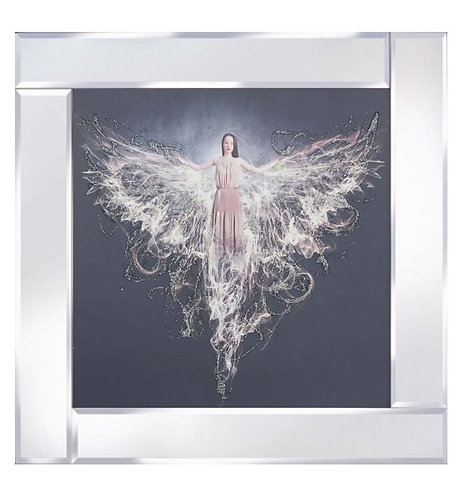 Angel on Mirrored Frame