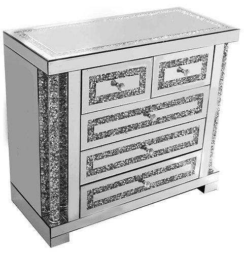 Crushed Diamond X Side Table