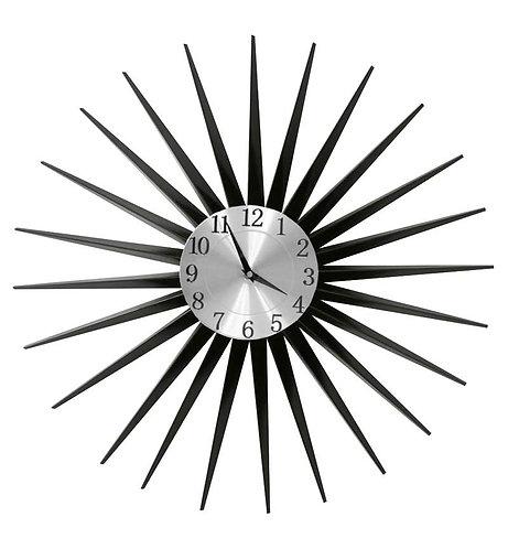 Black Metal Star Clock