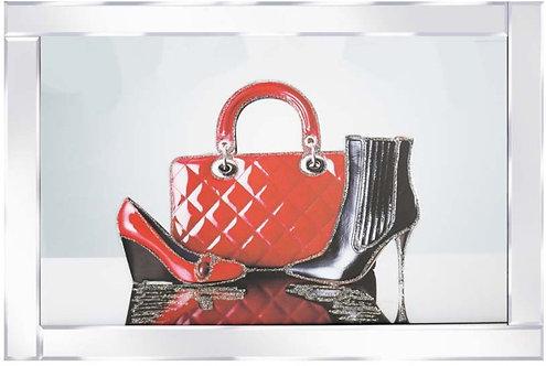 Handbag & Shoes on Mirrored Frame