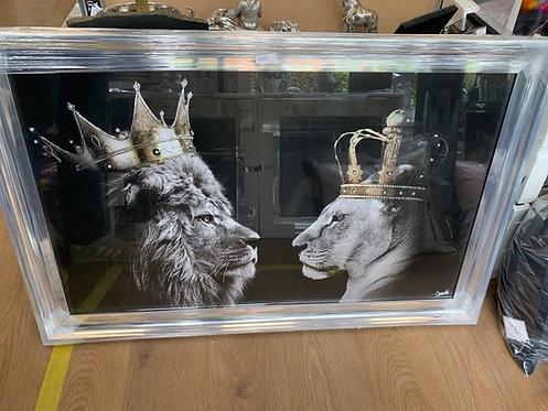 Lion & Lioness King & Queen 115x75cm