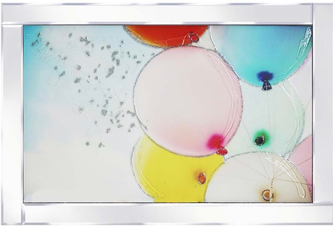 Balloons on Mirrored Frame