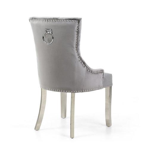 Grey Ringback with Chrome Legs Chair