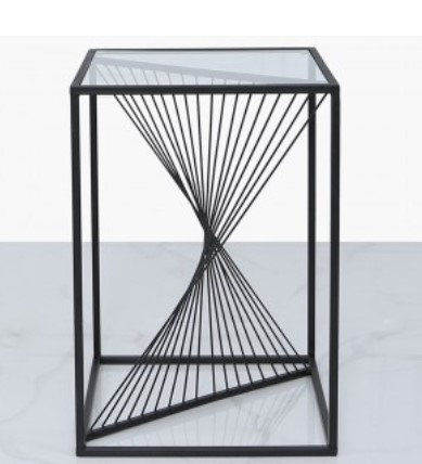 Black Eclipse Side Table