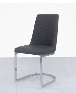 Chevron Grey Dining Chair